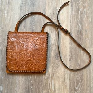 Leather crossbody bag.